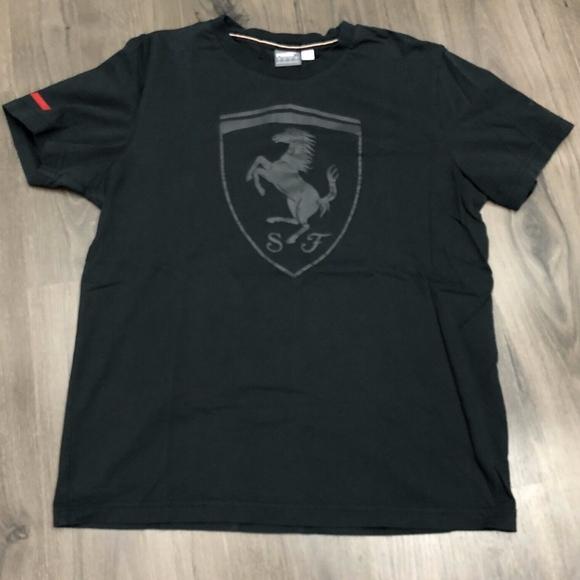 Puma Ferrari T Shirt Black Mens Large Logo
